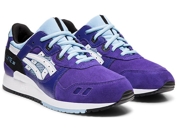 Front Right view of GEL-LYTE™ III, GENTRY PURPLE/WHITE