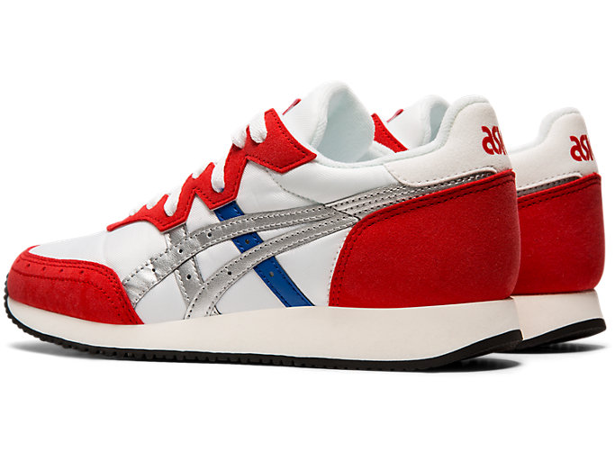 Front Left view of TARTHER OG, WHITE/CLASSIC RED