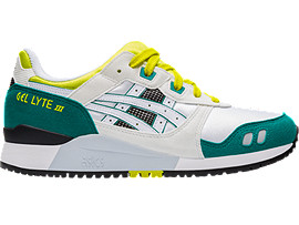 Right side view of GEL-LYTE III, WHITE/YELLOW