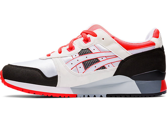 Left side view of GEL-LYTE III OG, WHITE/FLASH CORAL