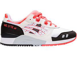 Right side view of GEL-LYTE™ III OG, WHITE/FLASH CORAL