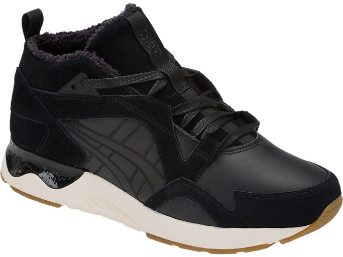 Front Right view of GEL-LYTE V SANZE MT, BLACK/BLACK