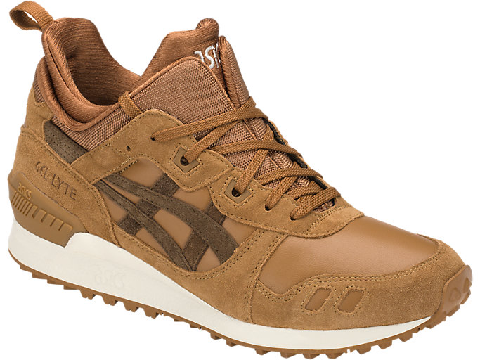 Front Right view of GEL-LYTE MT, CARAMEL/BROWN STORM