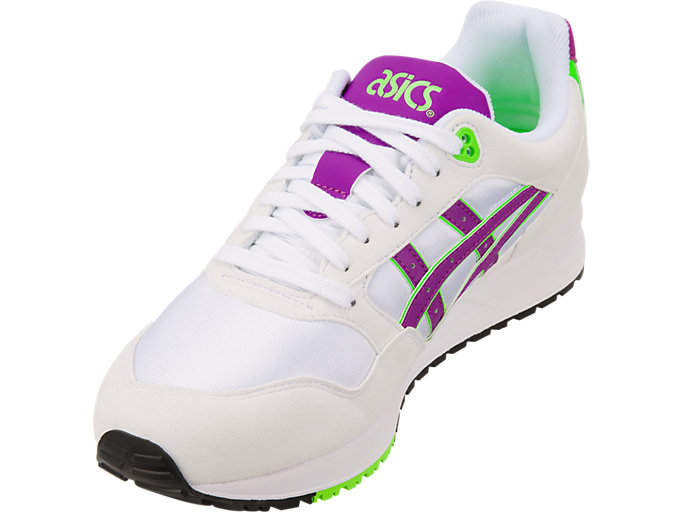 Front Left view of GEL-SAGA, WHITE/ORCHID
