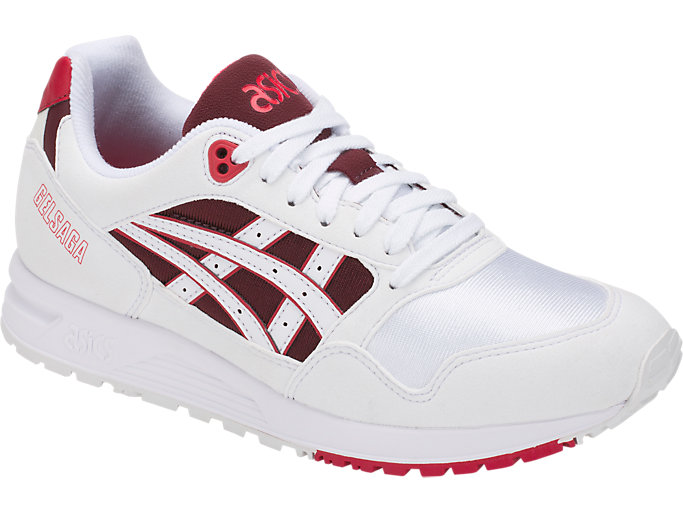 Front Right view of GEL-SAGA, WHITE/SAMBA