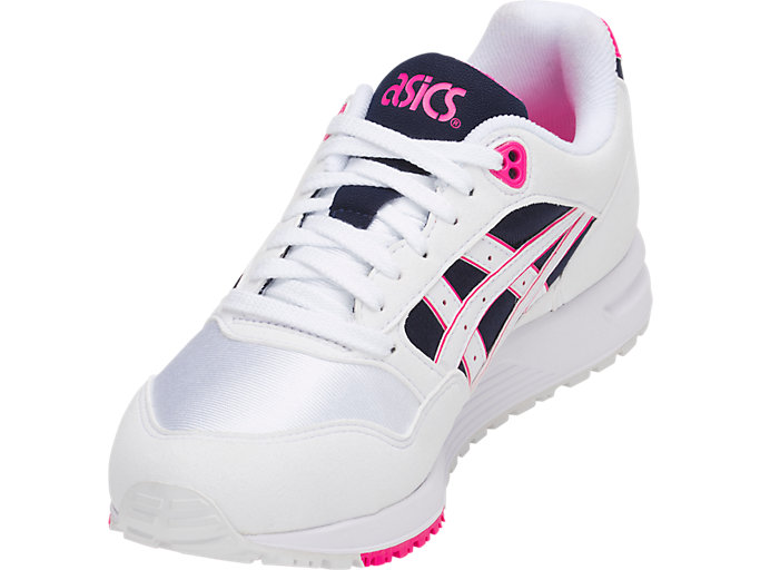 Front Left view of GEL-SAGA, WHITE/PINK GLO