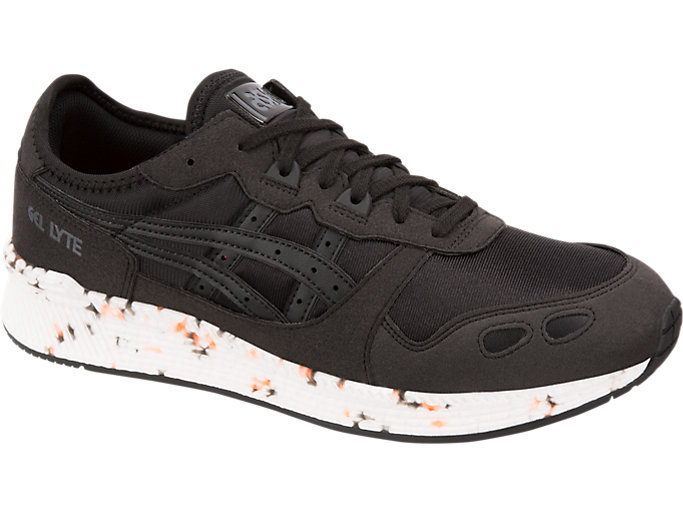 Front Right view of HYPER GEL-LYTE, BLACK/BLACK