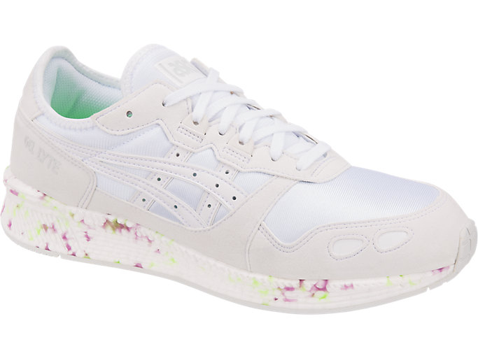 Front Right view of HYPER GEL-LYTE, WHITE/WHITE