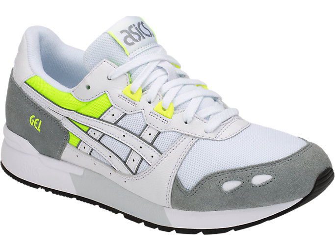 Front Right view of GEL-LYTE, WHITE/STONE GREY