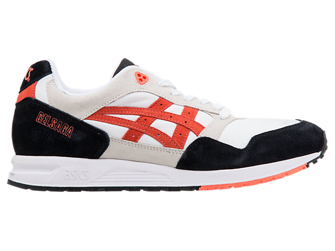 ASICS SportStyle GELSAGA shoes white black orange