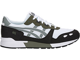 Right side view of GEL-LYTE, WHITE/STONE GREY