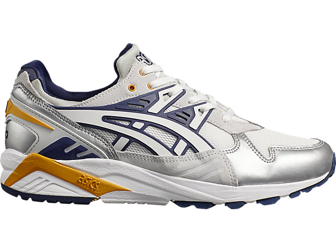 Right side view of Naked x ASICS GEL-KAYANO TRAINER, WHITE/PEACOAT