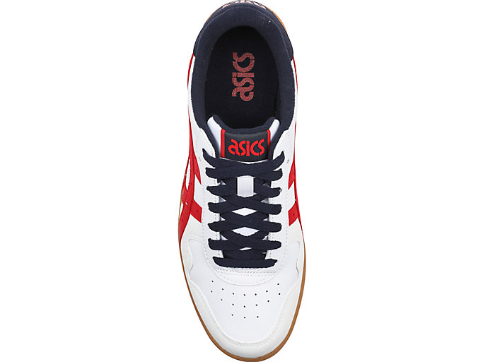 Top view of JAPAN S, WHITE/CLASSIC RED
