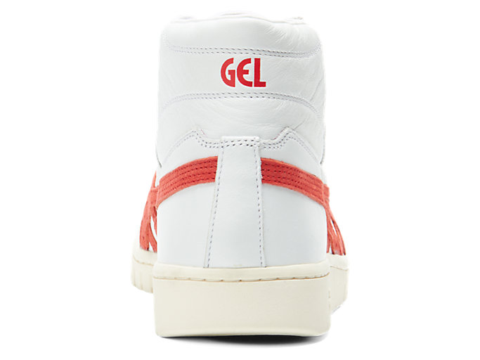 Back view of GEL-PTG MT, WHITE/CLASSIC RED