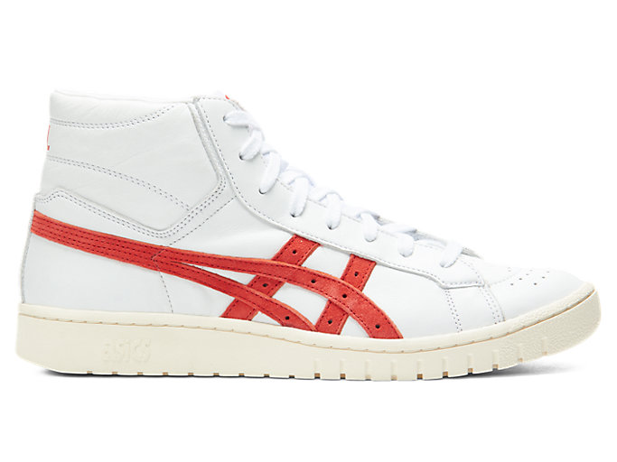 Right side view of GEL-PTG MT, WHITE/CLASSIC RED