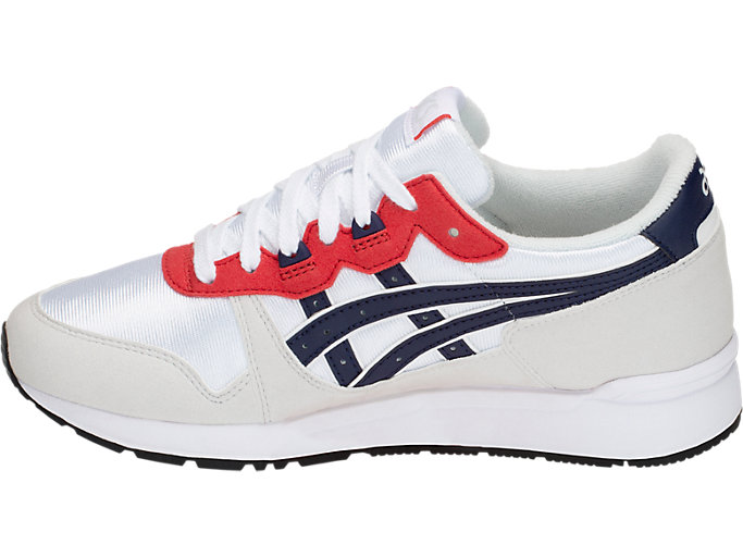Left side view of GEL-LYTE GS, WHITE/PEACOAT