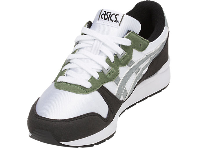 Front Left view of GEL-LYTE GS, WHITE/STONE GREY