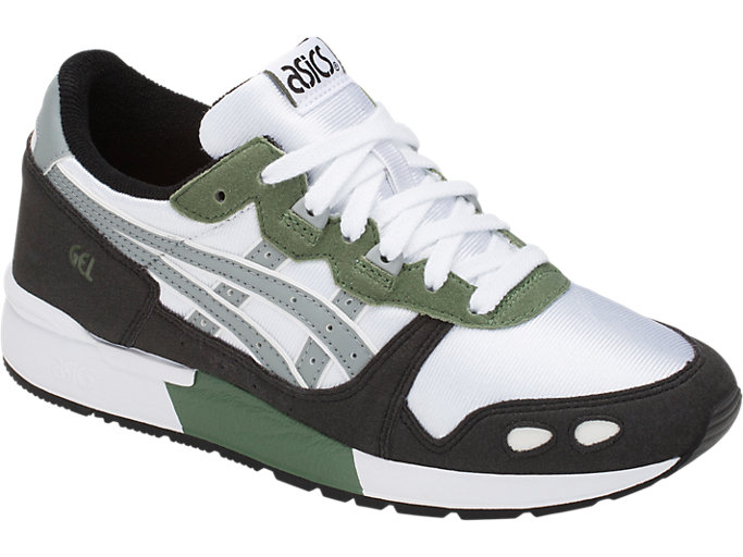 Front Right view of GEL-LYTE GS, WHITE/STONE GREY