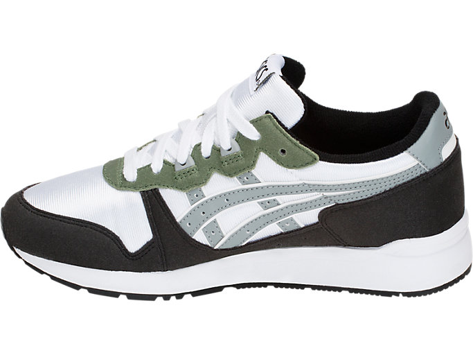 Left side view of GEL-LYTE GS, WHITE/STONE GREY