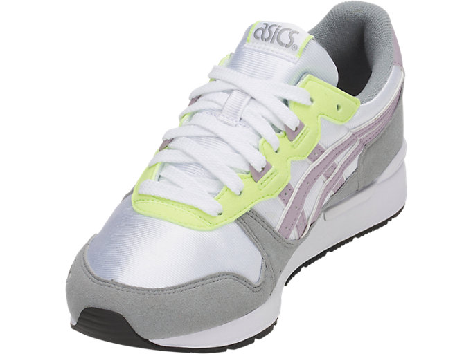 Front Left view of GEL-LYTE GS, WHITE/SOFT LAVENDER