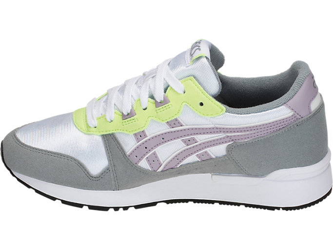 Left side view of GEL-LYTE GS, WHITE/SOFT LAVENDER
