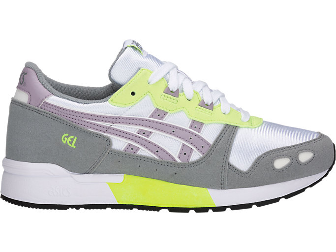 Right side view of GEL-LYTE GS, WHITE/SOFT LAVENDER