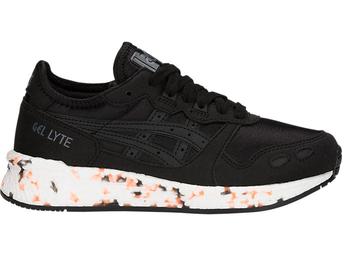 Right side view of HYPER GEL-LYTE GS, BLACK/BLACK
