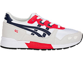 Right side view of GEL-LYTE PS, WHITE/PEACOAT