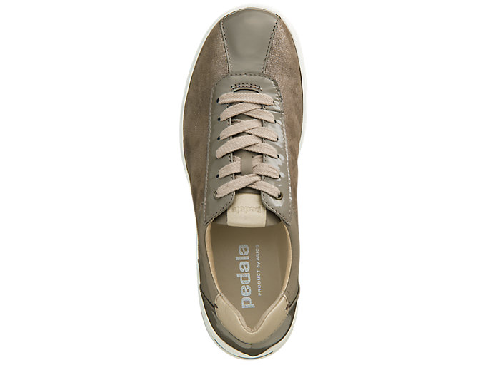 Top view of PEDALA WC023A 2E, TAUPE GREY