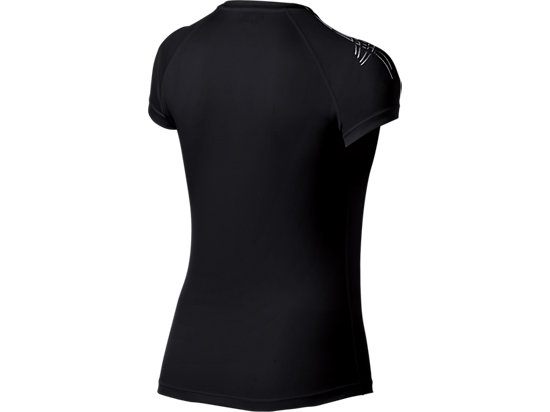 Stripe Top Short Sleeve Balance Black 7