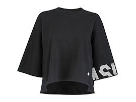 여성 트레이닝 오버핏 크롭 티셔츠