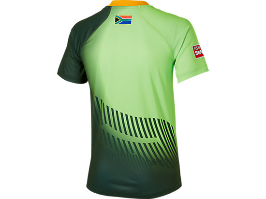 SPRINGBOKS HOME MATCH JERSEY BOTTLE GREEN/GREEN GECKO 7