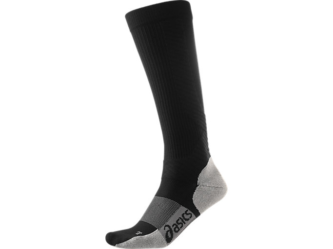 Front Top view of COMPRESSION SUPPORT SOCK, PERFORMANCE BLACK