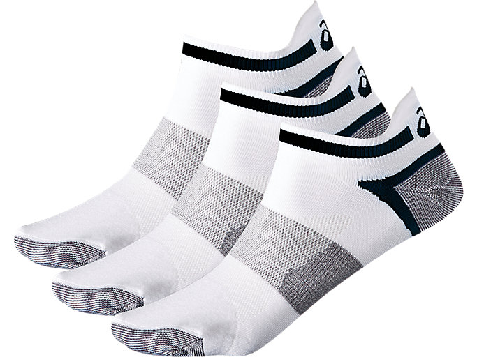Front Top view of CHAUSSETTE LYTE PACK DE 3 [3PPK LYTE SOCK], REAL WHITE