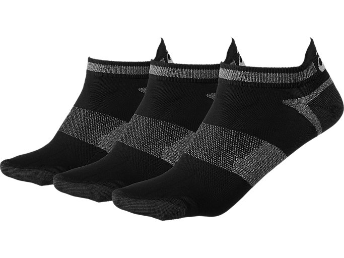 Front Top view of 3PPK LYTE SOCK, Black