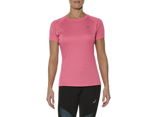 GESTREEPTE TOP MET KORTE MOUWEN CAMELION ROSE HEATHER 3