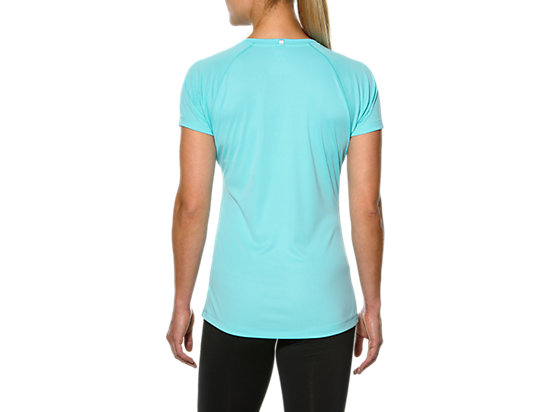 STRIPE SHORT SLEEVE TOP TURQUOISE/REAL WHITE 7
