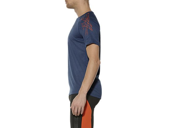 T-SHIRT DE COURSE ASICS MC POSEIDON HEATHER 7