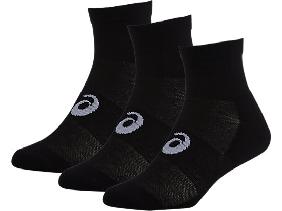 3PPK QUARTER SOCK, Black