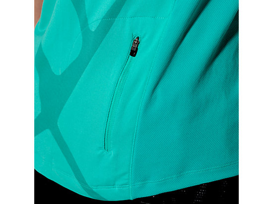 RACE SHORT SLEEVE HALF ZIP TOP PEACOCK GREEN 11
