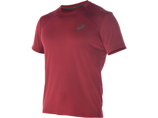 RACE SHORT SLEEVE TOP, Pomegranate
