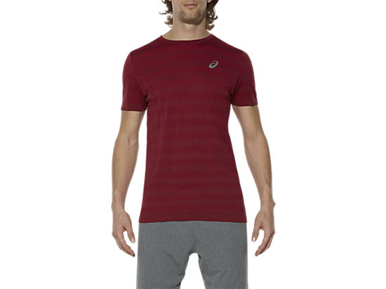 SEAMLESS TEE, Pomegranate