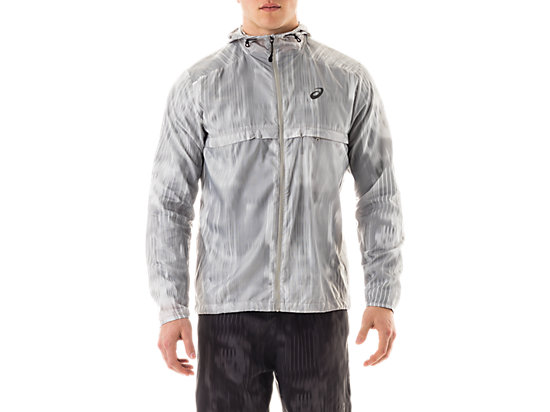 Packable Jacket White Fusion Print 3