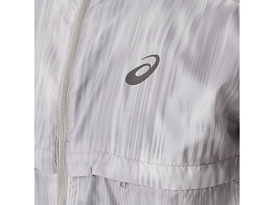Packable Jacket White Fusion Print 19