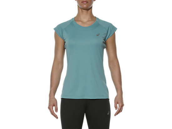 CAPSLEEVE TOP, Kingfisher