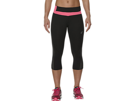 LITE-SHOW KNEE TIGHT PERFORMANCE BLACK/CAMELION ROSE 7