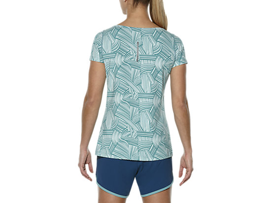 PRINTED SHORT SLEEVE TOP BRUSH SOOTHING SEA 11