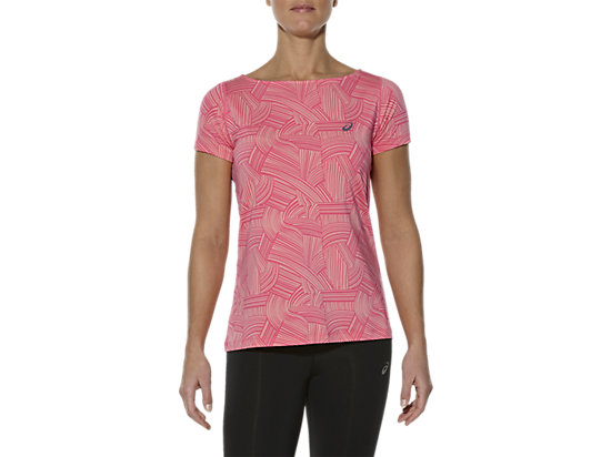 PRINTED SHORT SLEEVE TOP BRUSH PEACH MELBA 3