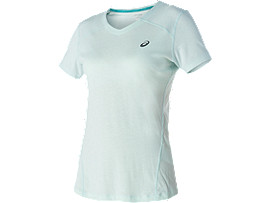 V-NECK SHORT SLEEVE TOP, Soothing Sea