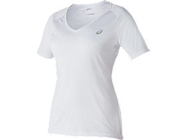 CLUB V-NECK TOP, Real White
